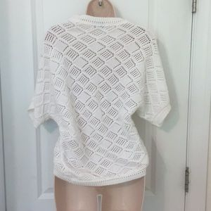 sophie Sweaters - White knit shrug/cardigan sz MEDIUM